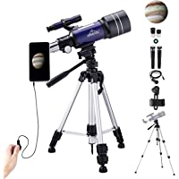 Telescope for Kids Adults Astronomy Beginners, 150X HD Refractor Telescope for Astronomy,…