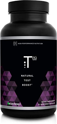 HPN T 5 Testosterone Optimization Booster Natural Testosterone Supplement with Testofen Increase Endurance Energy Improve Ability to Build Muscle with LJ100 Vegan Friendly 81 Capsules