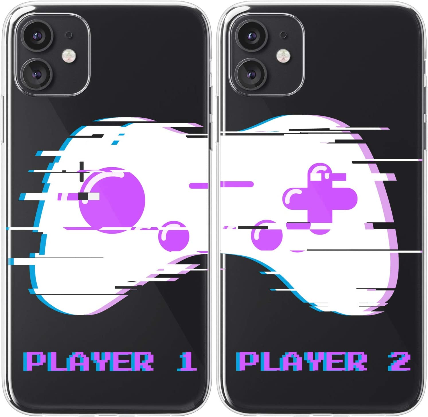 Amazon.com: Mertak TPU Couple Cases Compatible with iPhone 12 Pro ...