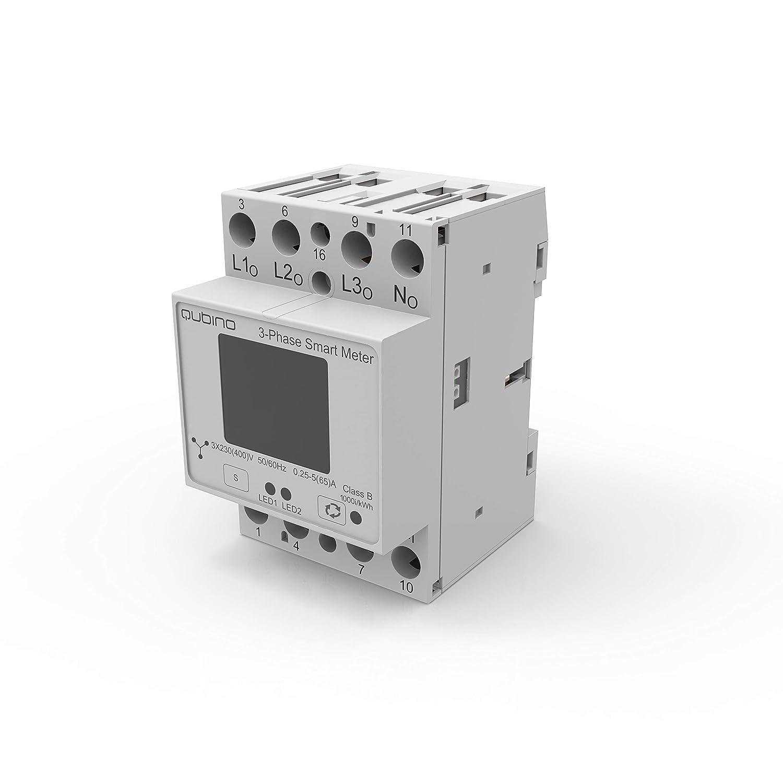 Qubino Module rail DIN Smart Meter triphas/é Z-Wave Plus pour mesure d/énergie