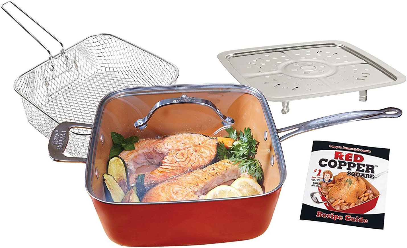 Red Copper 10-Inch Square Pan Set - 5 pc : Red copper pan seasoning instructions