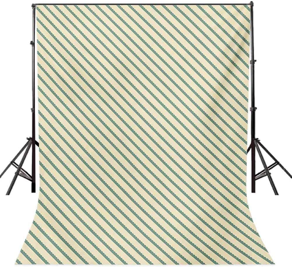 On The Bias Geometric Green Stripes Pattern Romantic Vintage Design Print Background for Baby Birthday Party Wedding Vinyl Studio Props Photography Retro 10x15 FT Photography Backdrop