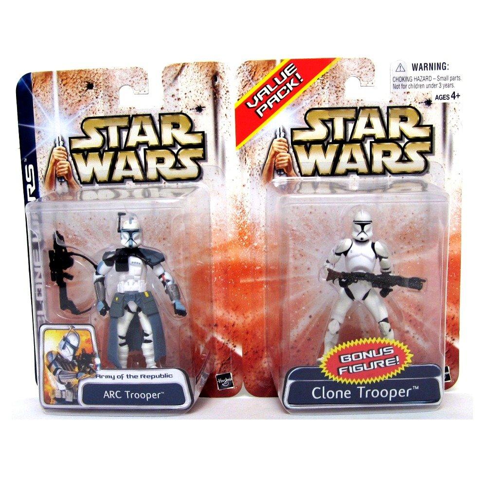 Star Wars Clone Wars 2 Pack ARC and Clone Trooper Hasbro