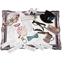 Talking Tables accesorios para una cabina de fotos 'Something In The Air' : gafas, corbatas, anillos, flores y frases…