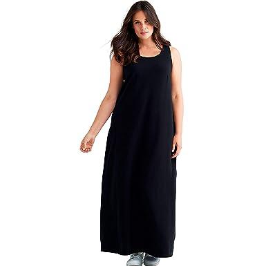 52ecef72c71fb Ellos Women s Plus Size Sleeveless Knit Maxi Dress at Amazon Women s ...