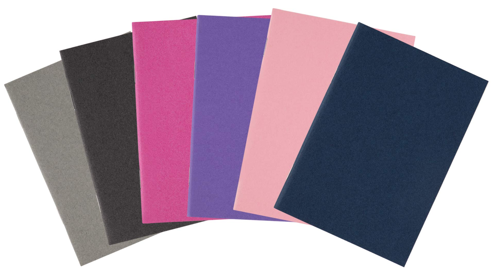 Pocket Notebook - 24-Pack Lined Notebook Journals, Mini Blank Book Travel Journal for Travelers, Diary, Notes - Soft Cover, 24 Sheets, 6 Assorted Colors, 3.5 x 5 Inches by Paper Junkie