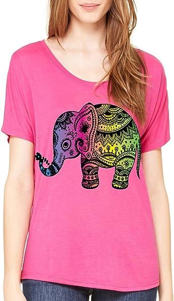 VISHTEA Yoga Elephant Yogi T-Shirt I Love Elephants Lotus Bikram Shirts