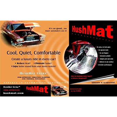 HushMat 10500 Ultra Black Foil Bulk Kit with Damping Pad - 30 Piece: Car Electronics