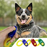 Vizpet Pack of 3 Dog Training Button Clicker with Wristband Training Clicker Set for Pets