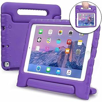 Funda para Apple iPad 6, iPad 5, iPad Air 1, [Asa de Gran tamaño 2 en 1: para Llevar y como Soporte] Cooper Dynamo para niños Extra Resistente a ...