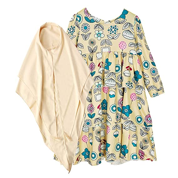 Floral Stripe Long Sleeves Suits Tops+Pants+Headscarf Infant Newborn Baby Girls