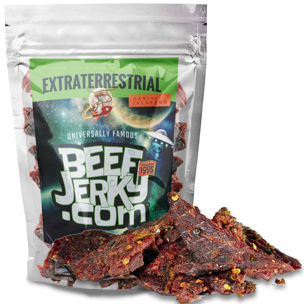 BeefJerky.com, Jalapeno Garlic, Gourmet Beef Jerky (Extraterrestrial, 8 oz)