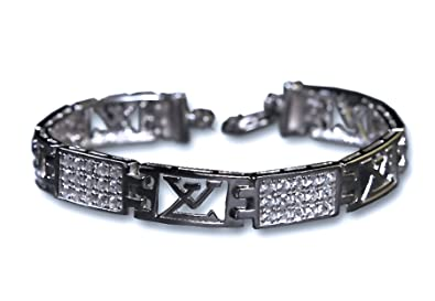 28c9b661e429 Image Unavailable. Image not available for. Colour  Sterling Silver Men s  Bracelet - Perfect Luxury Gift ...