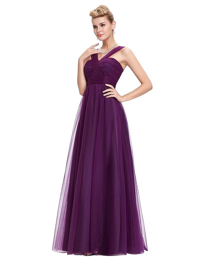 Fashion V-Neck Empire Waist Formal Party Dresses Size 10: Amazon.co.uk: Clothing