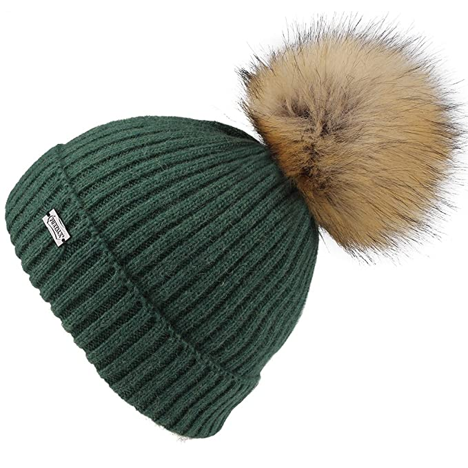 65f67d3f0f0 FURTALK Kids Bobble Hats Pom Pom Hat - Girls Angora Knitted Beanie Hat Faux  Fur Bobble (Ages 2-10)  Amazon.co.uk  Clothing