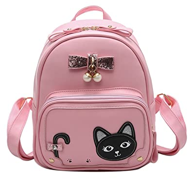 MICOM Mini Cute Cat Casual Backpacks with Sequins Bowknot Daypack for Women  (Pink)  Amazon.in  Shoes   Handbags 8d2bf36063ebd