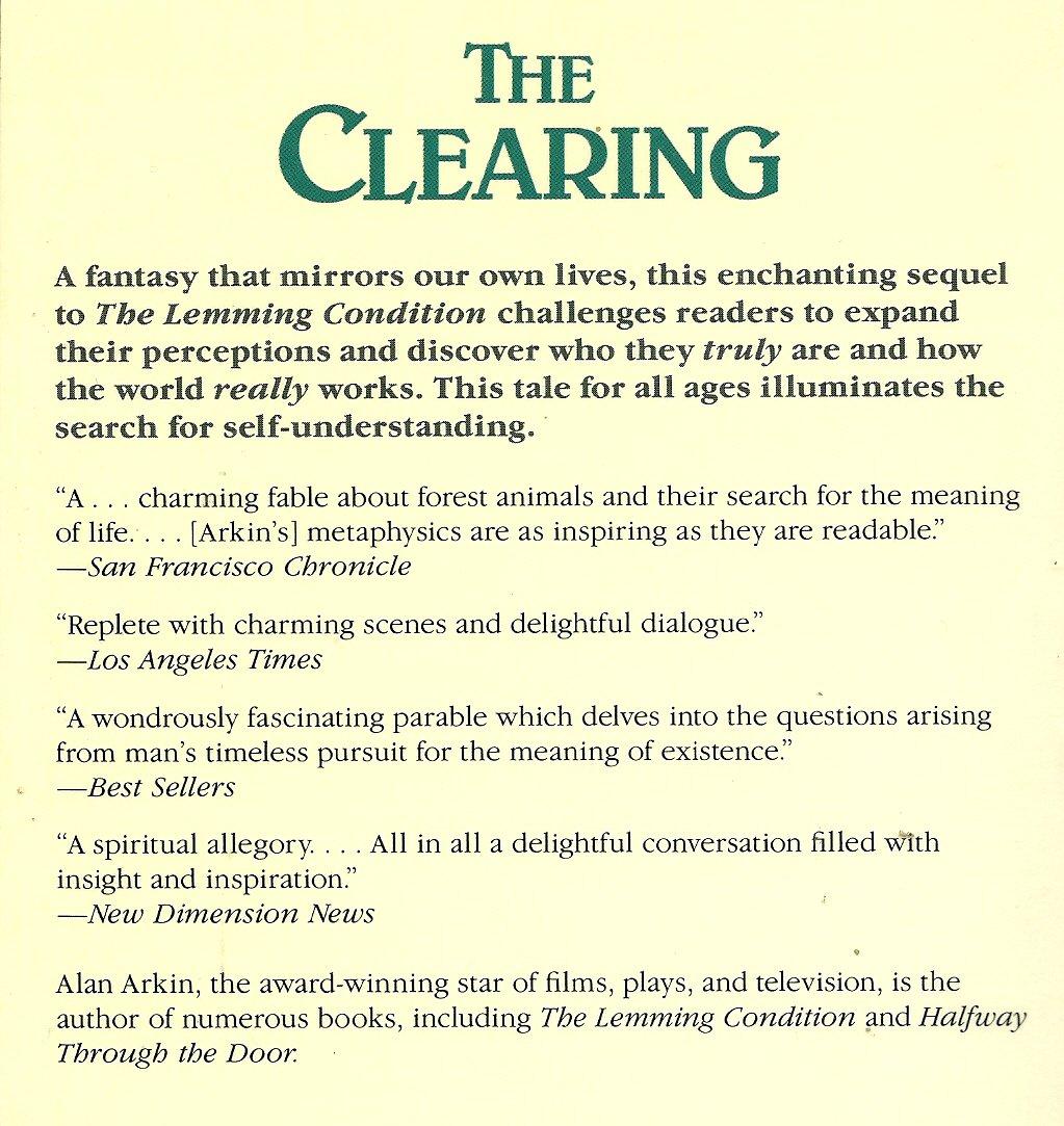 The Clearing  Arkin, Alan Amazon.de Bücher