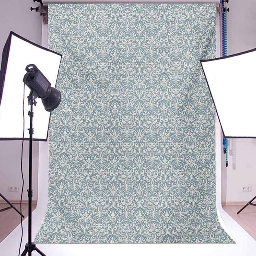 Damask 10x15 FT Photo Backdrops,Floral Ornament with Symmetrical Leaves and Cute Little Flowers Surreal Swirls Lines Background for Photography Kids Adult Photo Booth Video Shoot Vinyl Studio Props