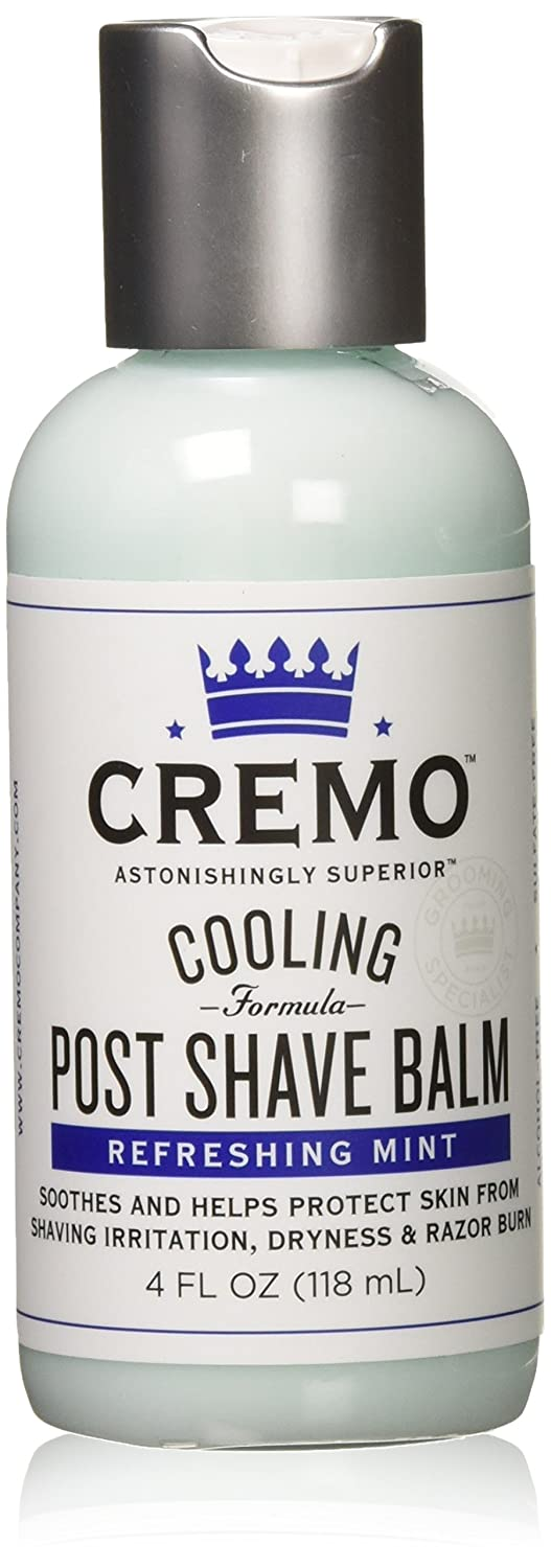 Cremo Cooling Post Shave Balm To Sooth, Cool And Protect Skin From Shaving Irritation, Dryness And Razor Burn, 4 Ounce