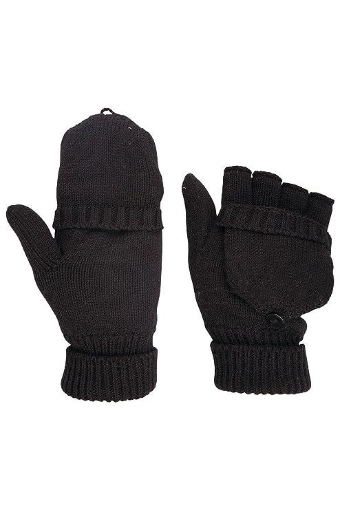 Mountain Warehouse Donna Convertible lavorato a maglia di inverno caldo  Guanti senza dita Guanti Nero 7d5ec516c00d