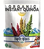 Happy Andes Organic Instant Quinoa Powder 2lb - All-Natural, Plant-Based Protein Source Cereal - Healthy Rice…