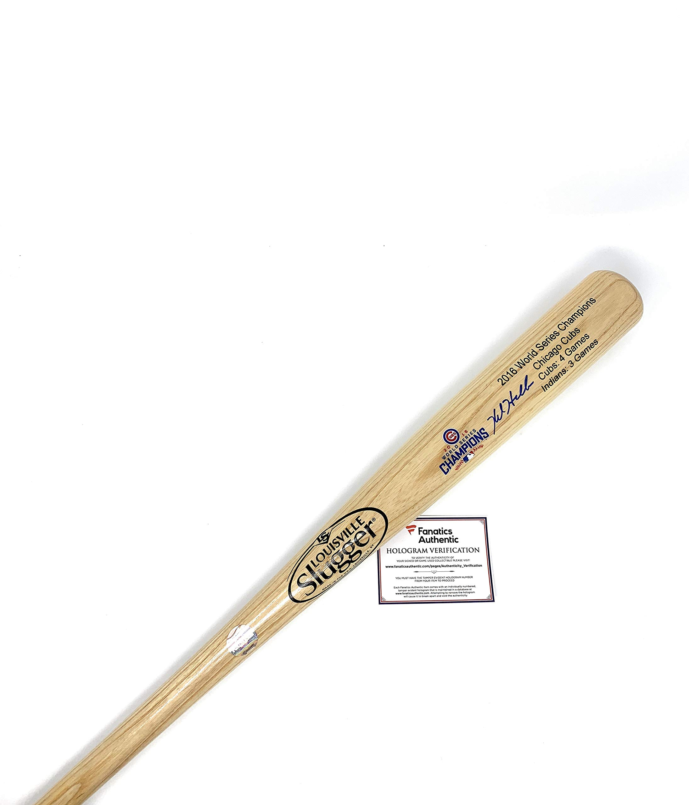 Kyle Hendricks Chicago Cubs Signed Autograph Baseball Bat Limited Edition World Series Blonde Fanatics Authentic Certified