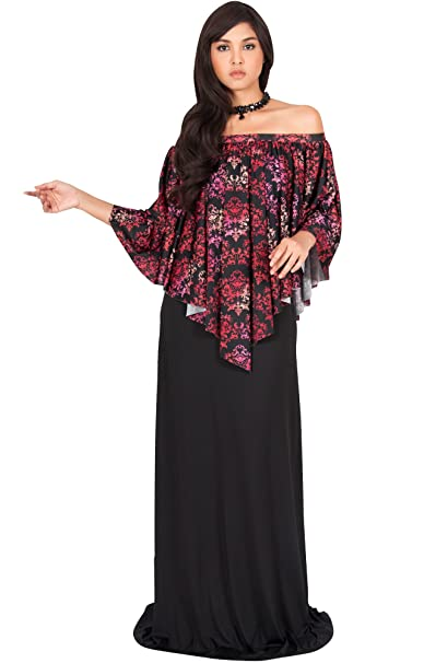 hot sales 50% off buy sale KOH KOH Womens Long Strapless Flowy Flattering Evening Cocktail Gown Maxi  Dress