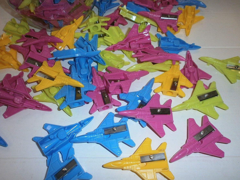Schnooridoo 12 x Anspitzer Flugzeug Jet Mitgebel Tombola B/üro Schule Einschulung