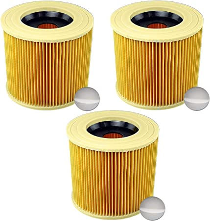 Alaskaprint 3X Filtro de Cartucho, reemplazo de Filtro de Aire para Kärcher WD3 Premium WD2 WD3 MV3 WD3P KIT de extensión reemplazado (6.414-552.0, 6.414-772.0, 6.414-547.0) Aspiradora seca y húmeda: Amazon.es: Bricolaje y herramientas