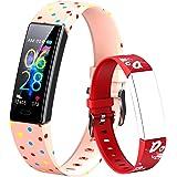 Dwfit - Pulsera deportiva infantil unisex para reloj inteligente, con podómetro, registro de actividad, impermeable…