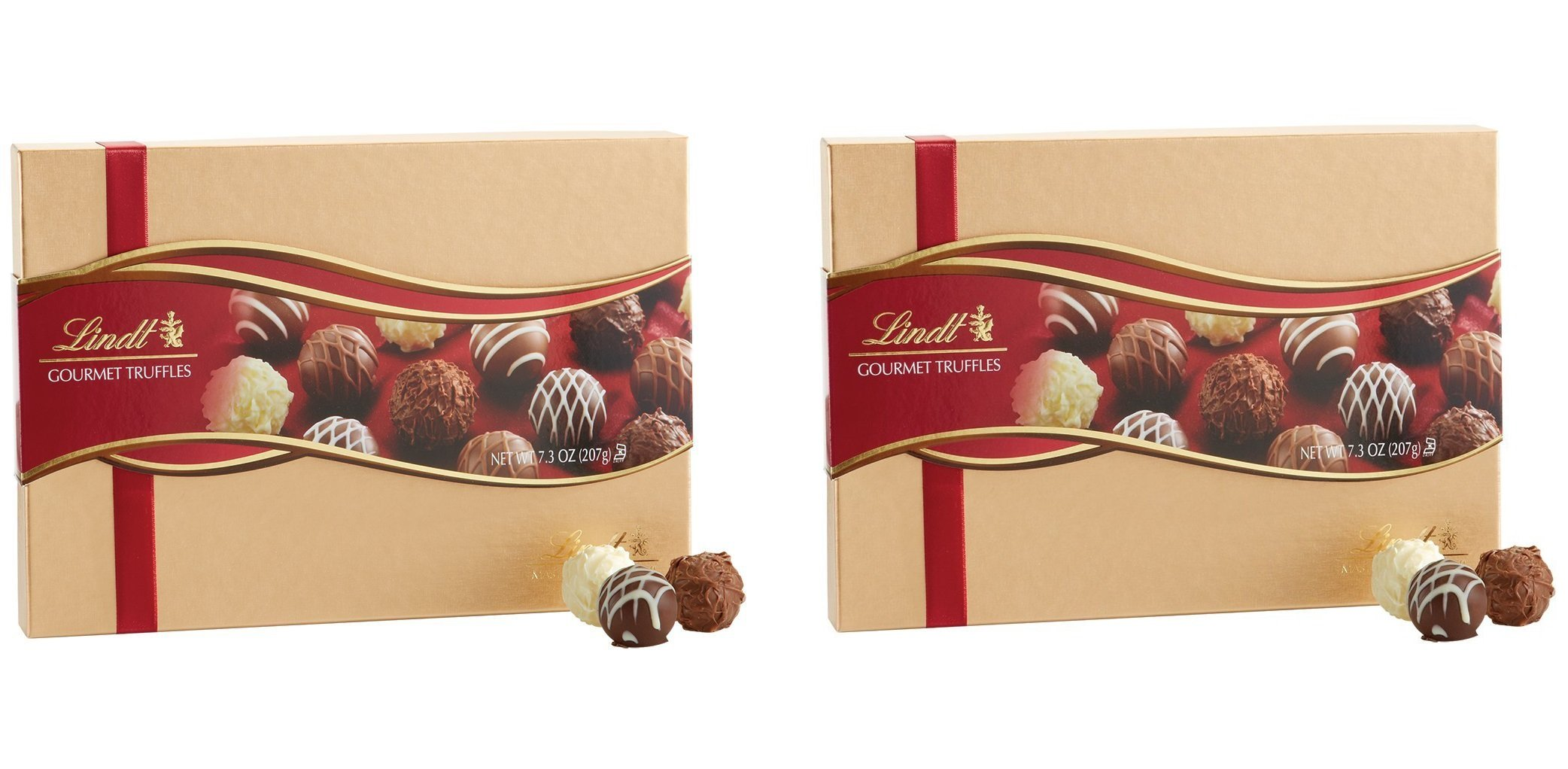 Lindt Lindor Assorted Chocolate Gourmet Truffles, 7.3 oz (Pack of 2)
