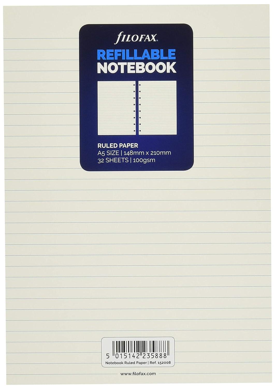 Amazon.com: Filofax – Recambio de hojas para agenda (A5, de ...