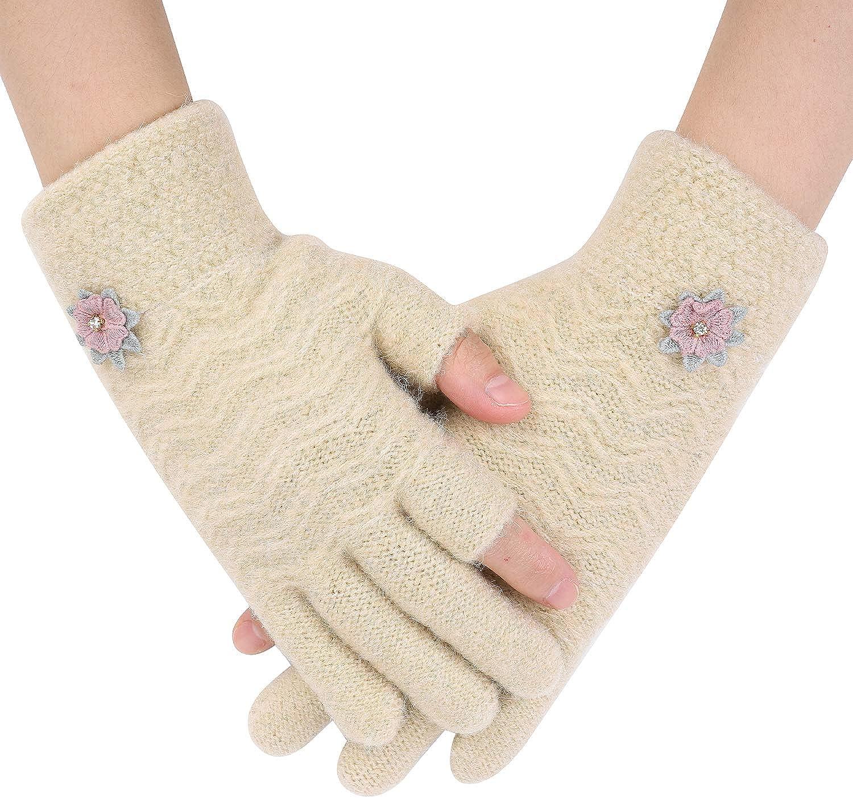 Writtian Winterhandschuhe Touchscreen Handschuhe Strick Fingerhandschuhe Sport Warm und Winddicht Winterhandschuhe f/ür Skifahren Radfahren Weihnachten Geschenke f/ür Damen und Herren