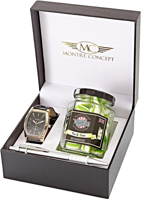 Regalo reloj Hombre con caramelos Humbugs wendy S candies – hecho a mano – Berlingot – Revisité – Cóctel Gin Tonic C0074: Amazon.es: Relojes