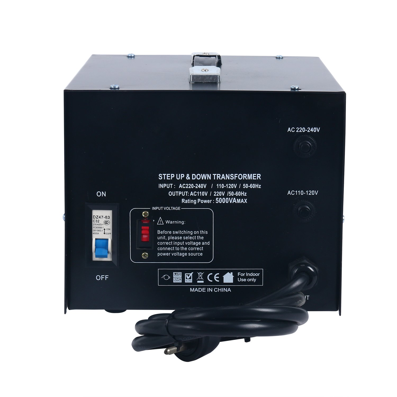 YaeCCC 5000 Watt Voltage Converter Transformer - 110V/220V - Circuit Breaker Protection by YaeCCC (Image #5)