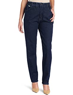 44356f0d Amazon.com: Lee Women's Petite Relaxed Fit Side Elastic Tapered Leg ...