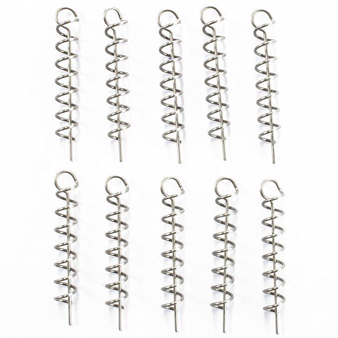8 Stück Daiwa Angeln Gummifische Systeme Prorex Screw-In Schraubspirale L
