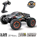 Hosim Large Size 1:10 Scale High Speed 46km/h 4WD 2.4Ghz Remote Control Truck 9125,Radio Controlled Off-road RC Car…