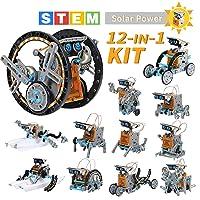 Lucky Doug Solar Robot Kit 12-in-1 Science STEM Robot Kit Toys for Kids Aged 8-12...
