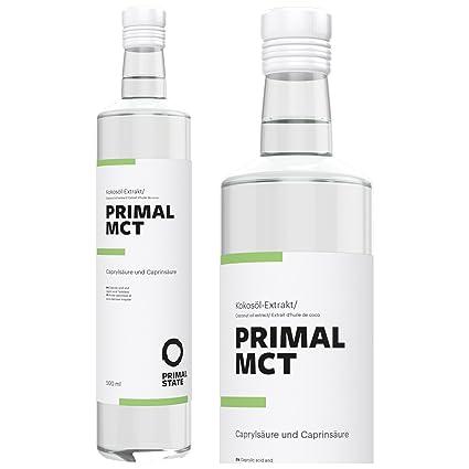 Aceite PRIMAL MCT en botella de vidrio | Extracto de aceite de coco | Sabor neutral