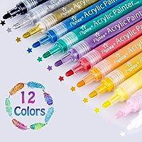 12 Teile satz Stoff Marker Stifte Permanent Pens Pens Art Marker Für T