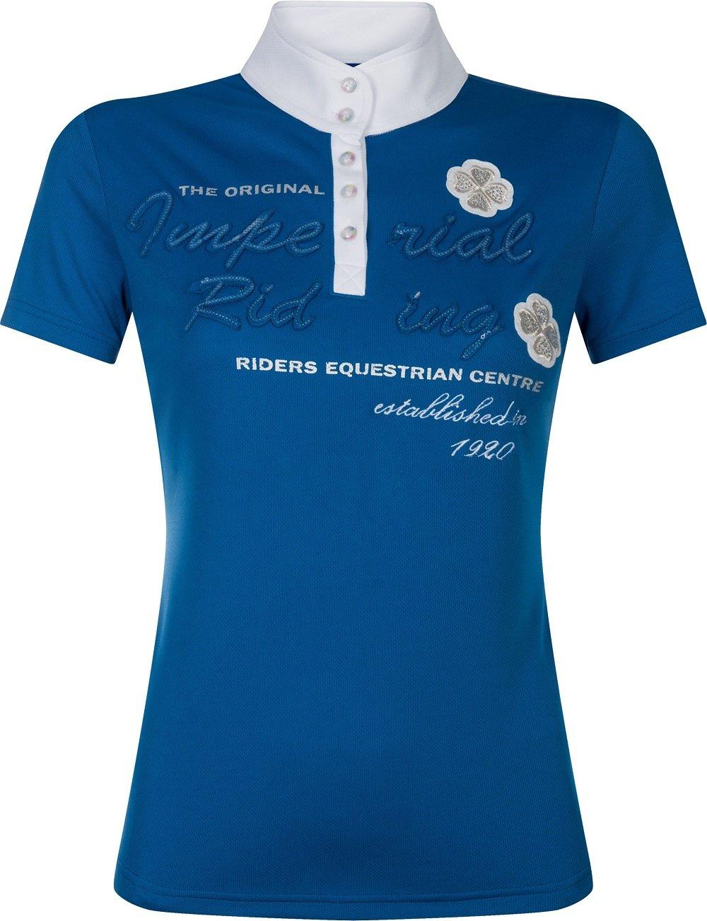 Imperial Riding Damen Turniershirt Diadeem Kurzarm Stehkragen Strass Sommer '17 B074KMNTMG TurnierBlausen Ausgezeichnete Funktion