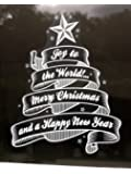 Stickers4 Joy to the World Christmas Window Cling Sticker by