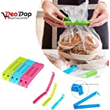 Plastic Sealing Pouch Bag Clips for Keeping Food and Snacks Fresh(Multicolour) - Pack of 18