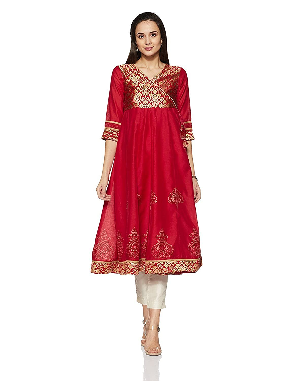 Indian Handicrfats Export Rangriti Women's Anarkali Kurta FKSAR-022723-$P