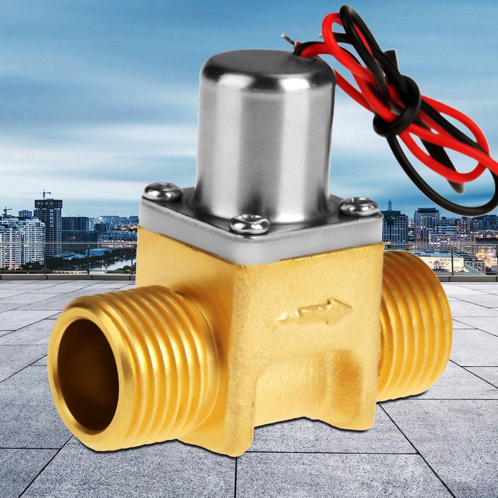R/ésistante /à lUsure Et Durable Pour lEnvironnement dAlimentation De La Batterie /Électrovanne En Laiton dImpulsion d/Écoulement dEau 1//2/Électrovanne Dc4.5V