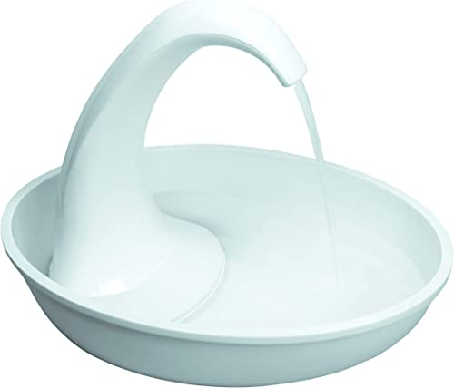 Pioneer Pet Swan Pet Drinking Fountain 80oz Water Capacity