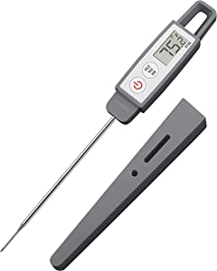 Lavatools PT09 Commercial Grade Digital Instant Read Meat Thermometer for Kitchen, Food Cooking, Grill, BBQ, Smoker, Candy, Home Brewing, and Oil Deep Frying (Sesame Regular)