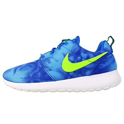 a78a31cdd953 Image Unavailable. Image not available for. Color  Nike Mens Rosherun Print  Photo Blue Mystic Green Obsidian ...