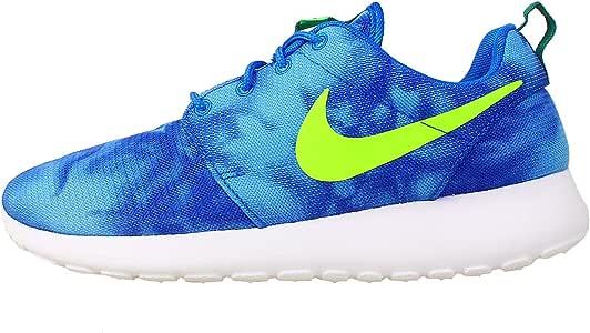 Nike Roshe Run Print Zapatillas Moda Sneakers Azul para Hombre: Amazon.es: Deportes y aire libre